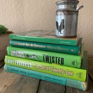 Green Book stack Farmhouse Decor